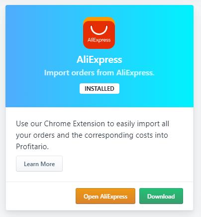 Profitario Chrome Extension installed